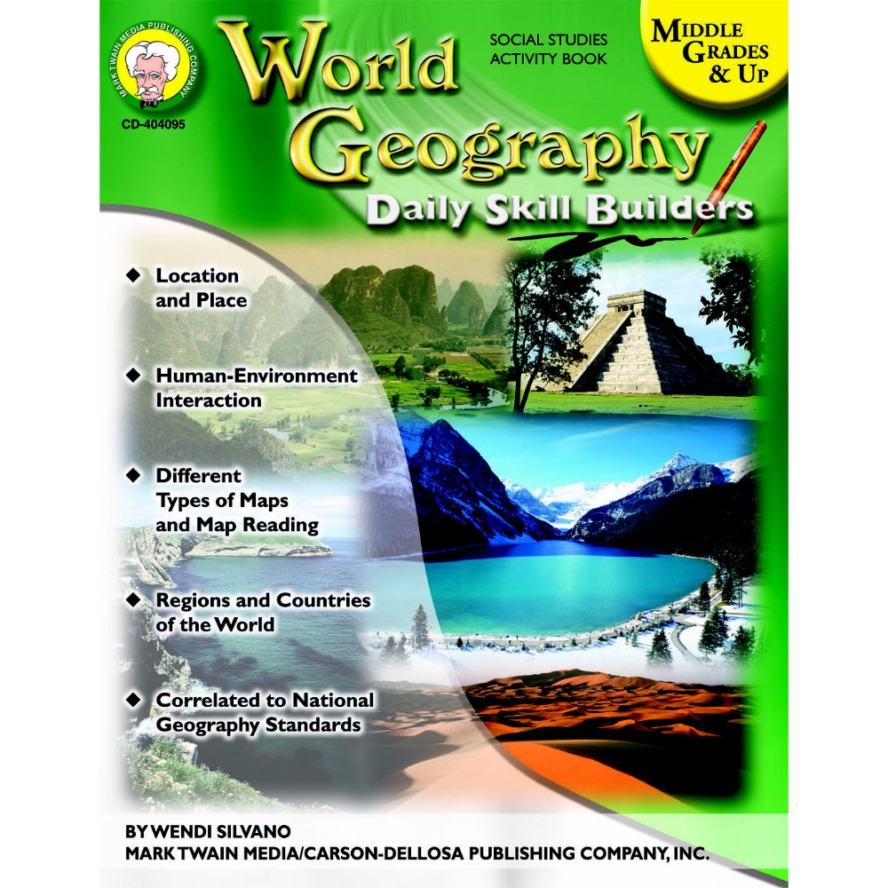 Mark Twain 1329370 World Geography Daily Skill Builders by Mark Twain