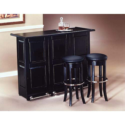 Home Styles Folding Bar Black Walmart Com