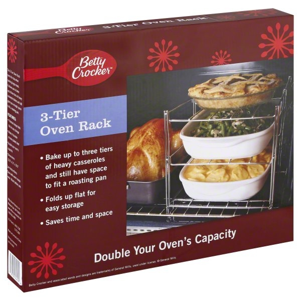 Nifty Home Products, Inc., Betty Crocker 3-Tier Oven Rack, 1 rack