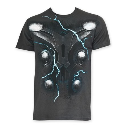 Thor Men's Avenger's Costume Tee - Thor Shirt With Cape