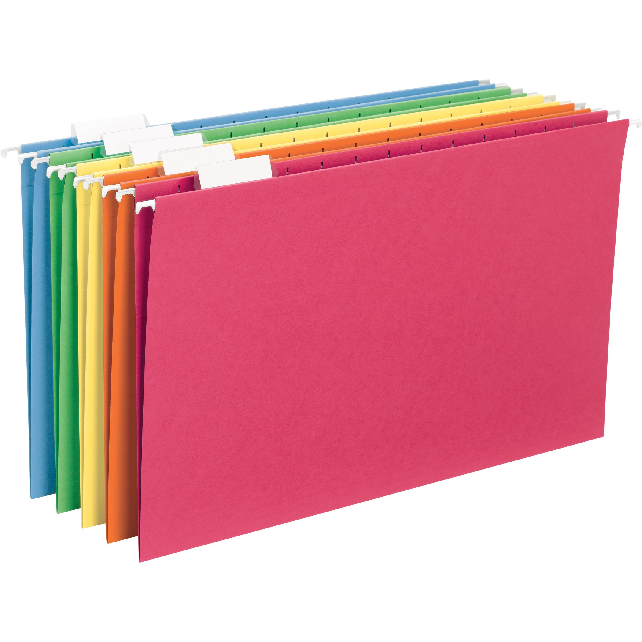 Smead Hanging File Folder, 1/5 Tab, Assorted Colors, Legal Size, 25/Box