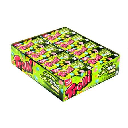 Trolli Extreme Sour Bites Fruitz 24 (Most Extreme Sour Candy)