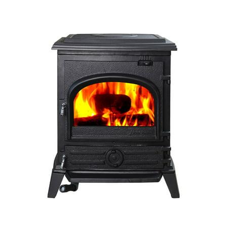 Hiflame 1200sq Ft Epa Certified Cast Iron Wood Burning Stove Hf517u Paint Black