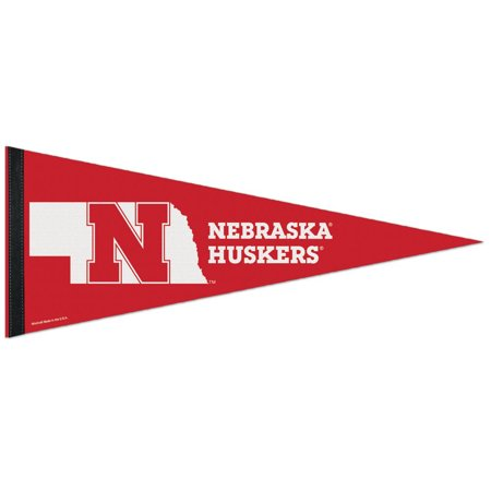 "Nebraska Cornhuskers WinCraft 12"" x 30"" Team Logo Premium Pennant - No Size"