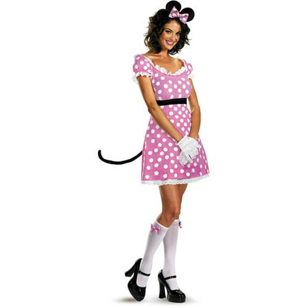 Minnie Mouse Sassy Adult Halloween Costume (Pink Minnie Mouse Halloween Costume)