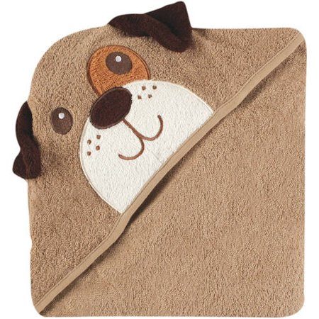 Luvable Friends Cotton Terry Animal Hooded Towel, Dog