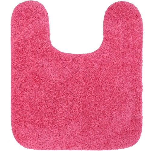 """Mainstays True Colors 19.5"""" x 22"""" Skid-Resistant Bright Pink Contour Bath, 1 Each"""