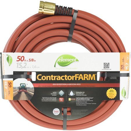 """Element ContractorFARM 5/8"""" x 50' Commercial Water Hose"""