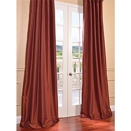 I Love Living Faux Silk Taffeta Solid Blackout Single Curtain Panel