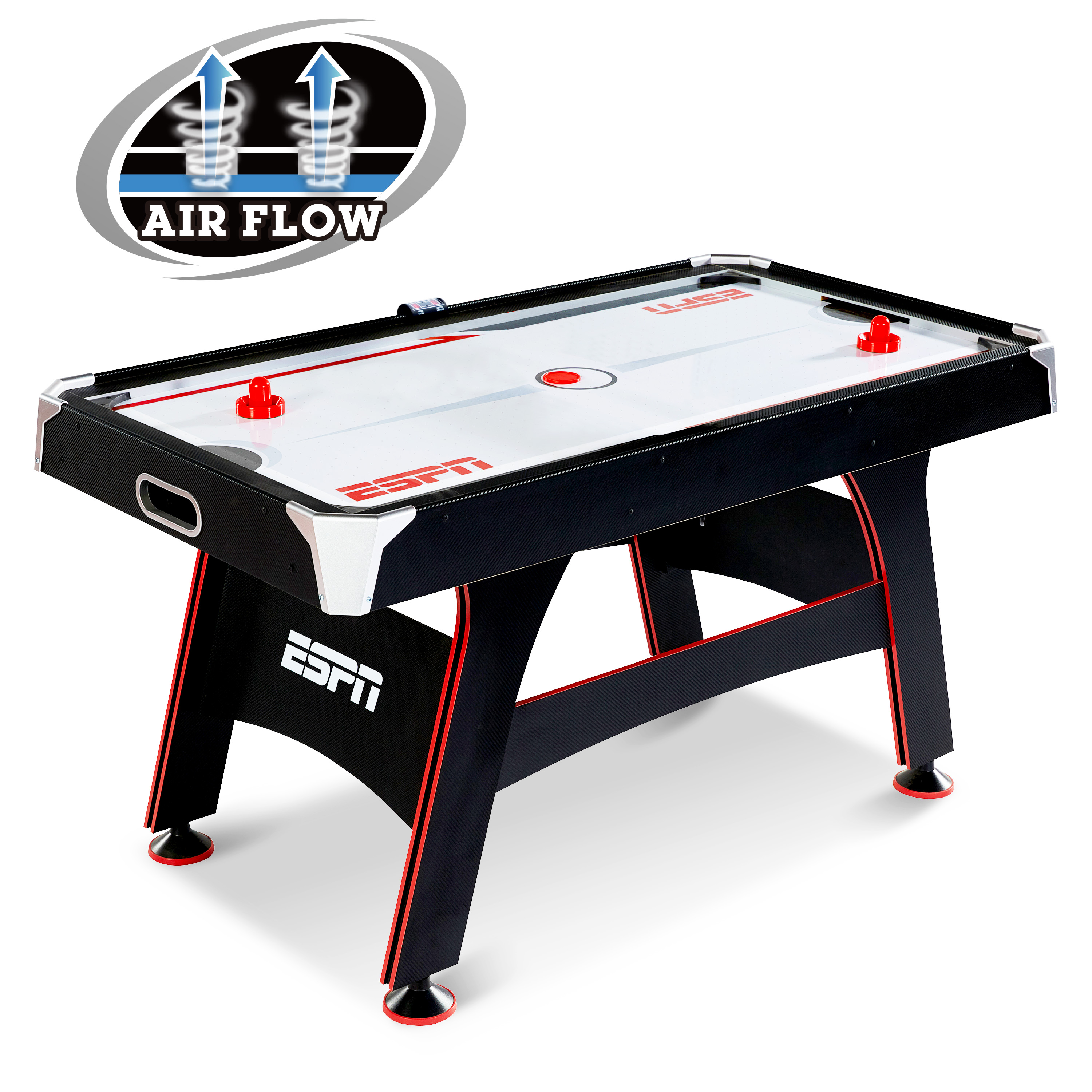 ESPN 5 FT. AIR POWERED HOCKEY TABLE WITH LED ELECTRONIC SCORER by Medal Sports