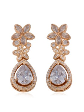 c2bce3253 Product Image Copper 2.5 Cttw Pear White Cubic Zirconia CZ Dangle Drop Earrings  Gift Jewelry for Women. Shop LC