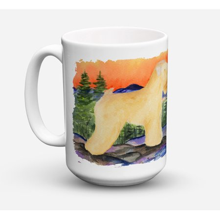 Wheaten Terrier Soft Coated Dishwasher Safe Microwavable Ceramic Coffee Mug 15 ounce SS8182CM15