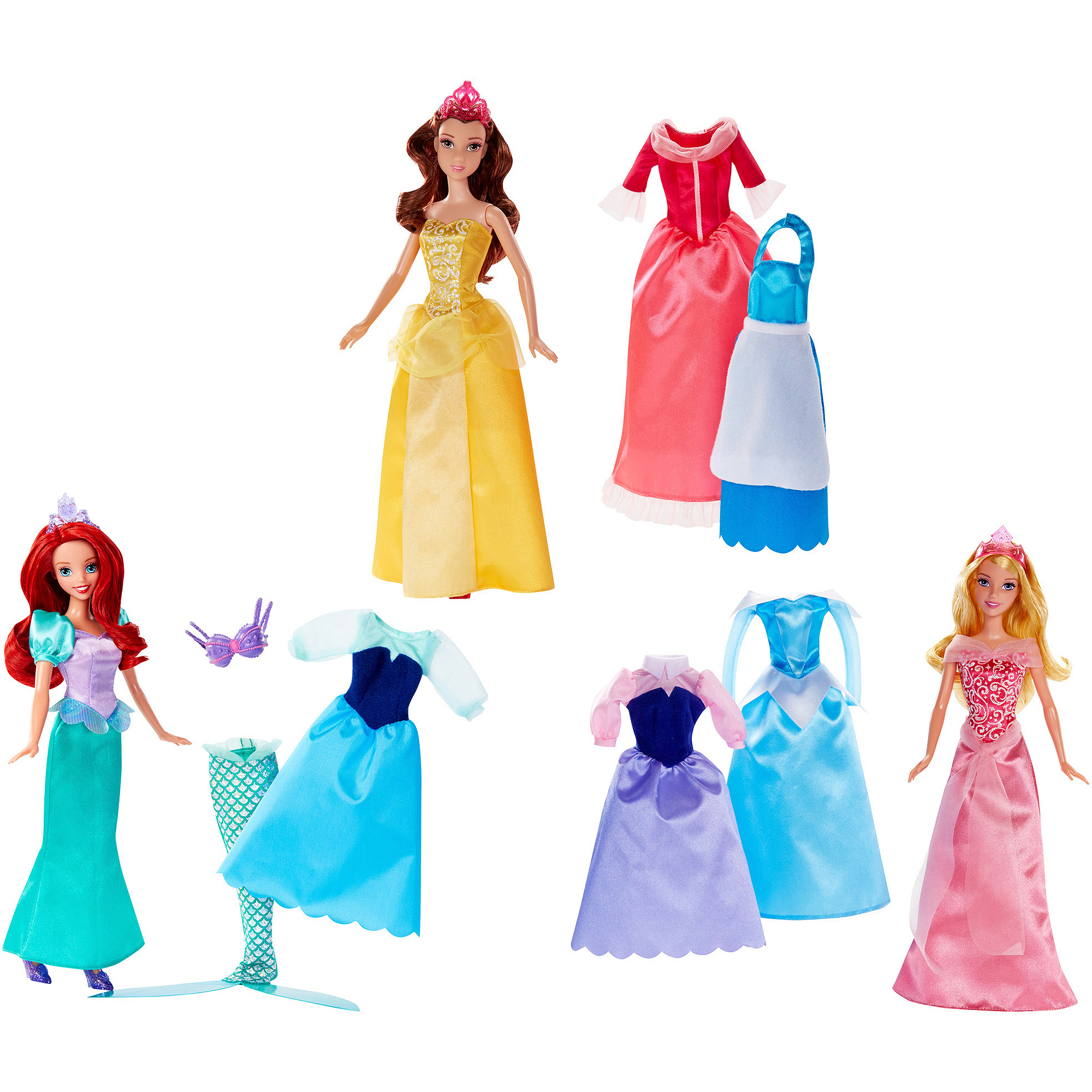"Disney Princess Rags To Riches 12-piece 12"" Doll and Dress Set Only At Walmart"