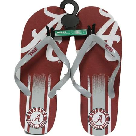 fb63e700ca25 Alabama Crimson Tide Men s Big Logo Gradient Unisex Beach Flip Flop Sandals  - Walmart.com