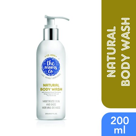 The Moms Co Natural Coconut Moisturizing Body Wash for Dry Skin,
