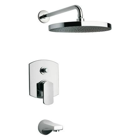 Set Pressure Balance (La Toscana Novello 86CR797 Pressure Balance Tub and Shower Faucet Set )