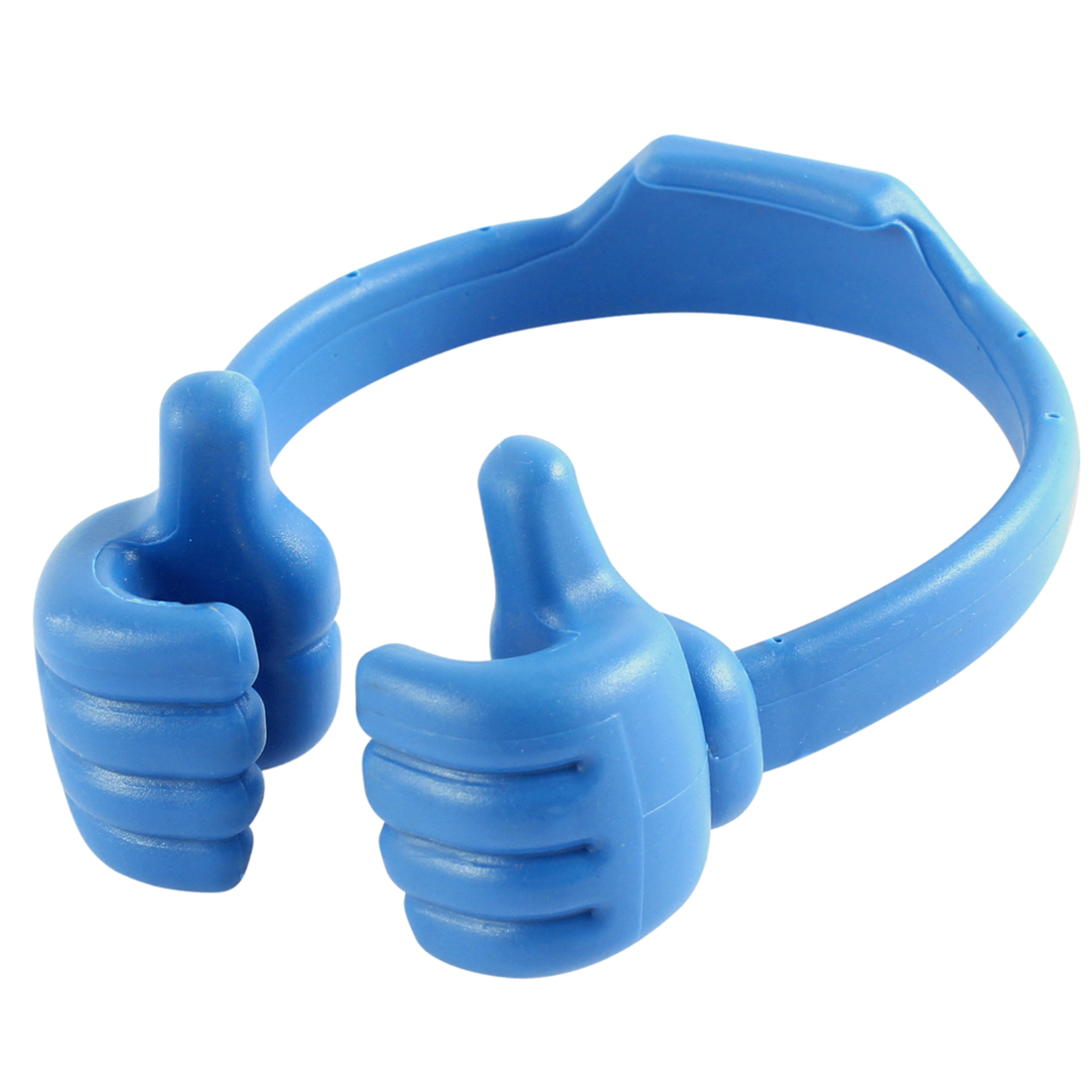 Unique Bargains Adjustable Blue Plastic Thumb Shaped Stand Holder for Cell Phone Mp3 MP4 Tablet