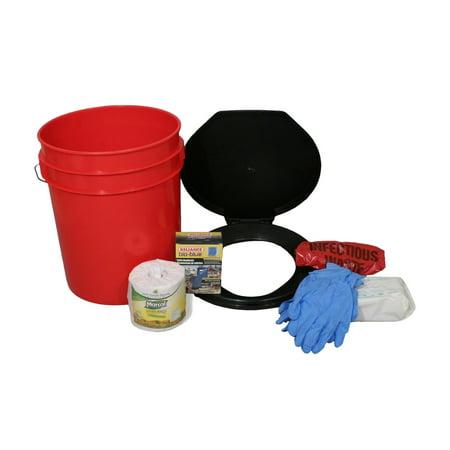 Lockdown Toilet Bucket Kit, 1-4 (Patriot Buckle)