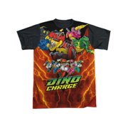 Power Rangers - Zord Power - Short Sleeve Black Back Shirt - XXX-Large