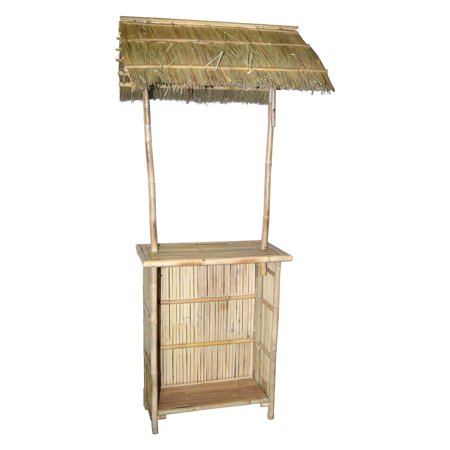Bamboo54 Bamboo Bar with Thatched Roof Bamboo 54 Natural Bamboo