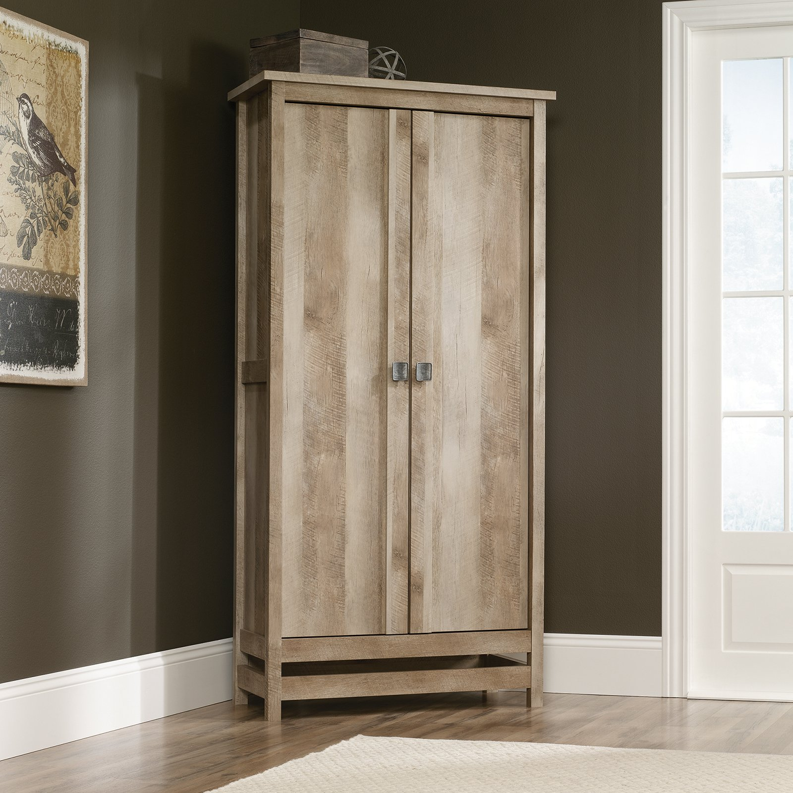 Cannery Bridge Storage Cabinet Armoire Lintel Oak by Sauder