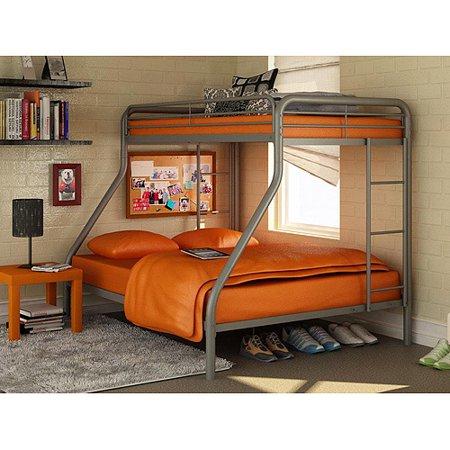 dorel twin over full metal bunk bed multiple colors walmartcom - Bunk Beds Metal Frame