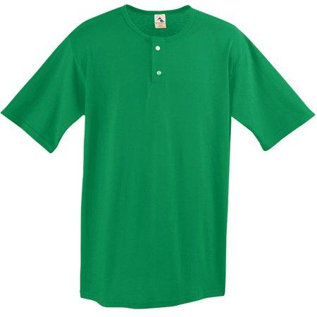 augusta sportswear two button baseball jersey, small, teal