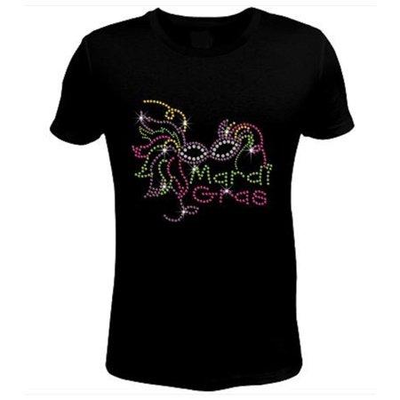 Bling Rhinestone Mardi Gras T-Shirt-SC-MSK-049](Mardi Gras Socks)