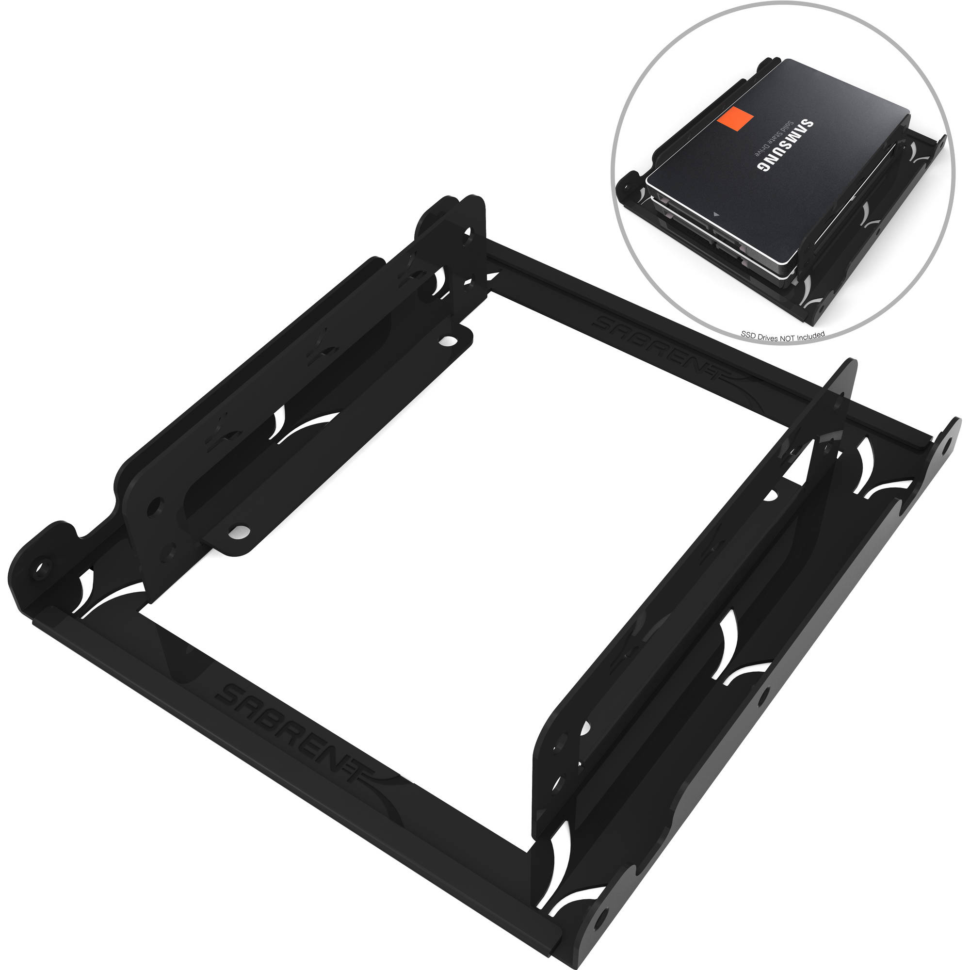 "Sabrent 2.5"" to 3.5"" Internal Hard Disk Drive Mounting Bracket Kit, BK-HDDH"