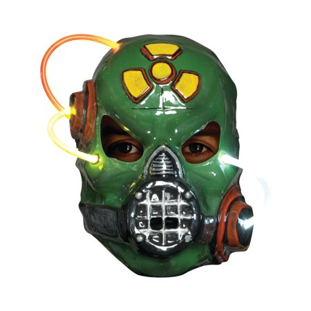 Adult's Putrid Light Up Biohazard Gas Mask Costume Accessory - Halloween Costume Gas Mask