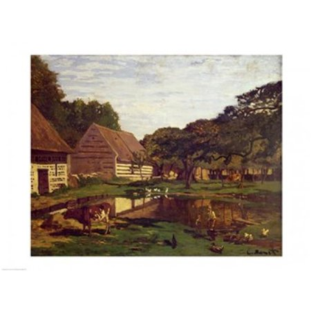 Posterazzi BALXIR42730 A Farmyard in Normandy C.1863 Poster Print by Claude Monet - 24 x 18 in. - image 1 de 1