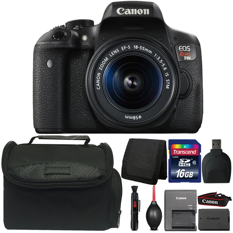 Canon EOS Rebel T6i 24.2MP DSLR Camera with 18-55mm Lens and Accessory Kit