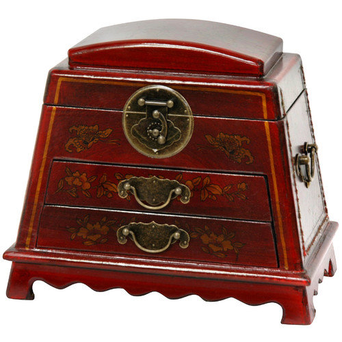Oriental Furniture Rounded Jewelry Box