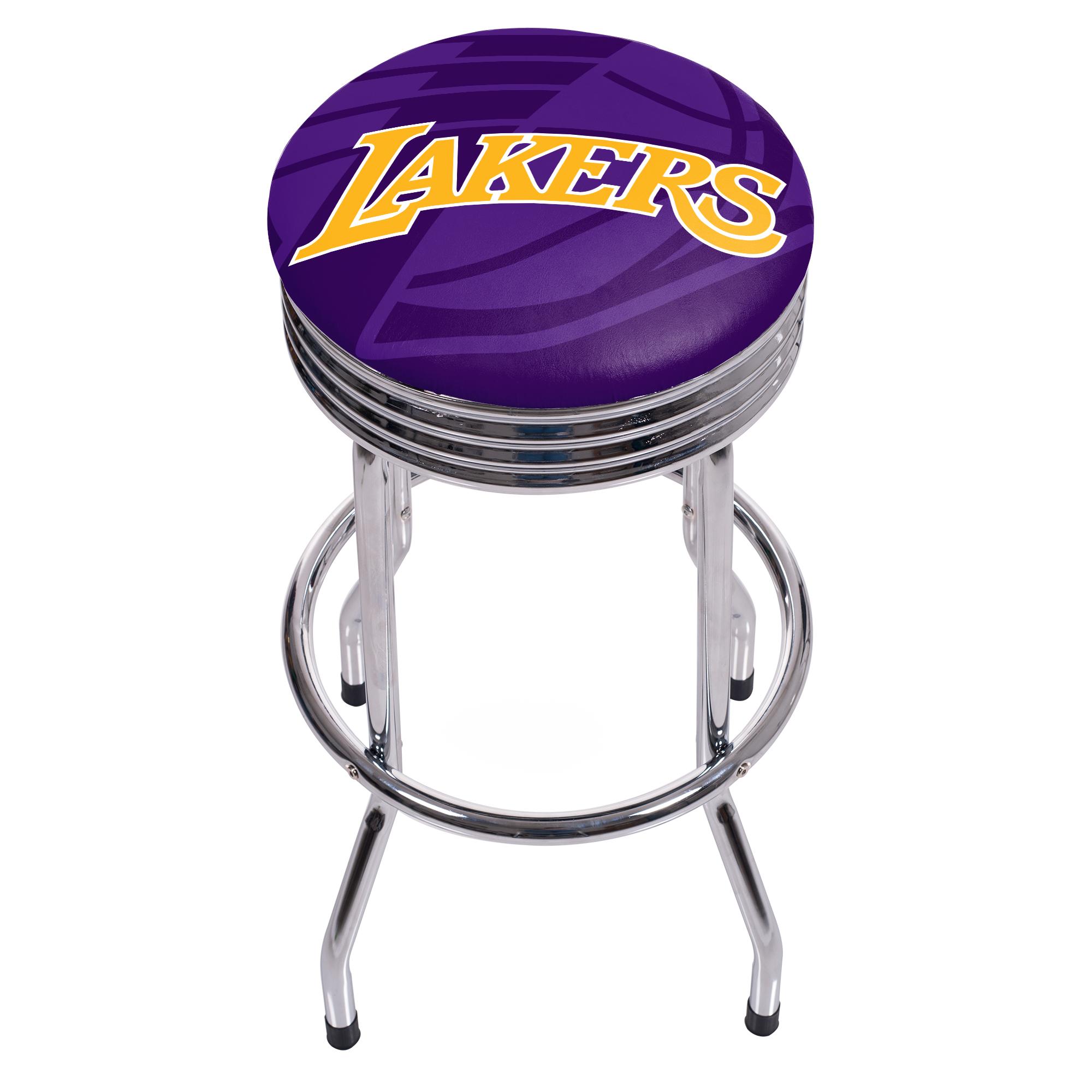 NBA Chrome Ribbed Bar Stool - Fade - Los Angeles Lakers