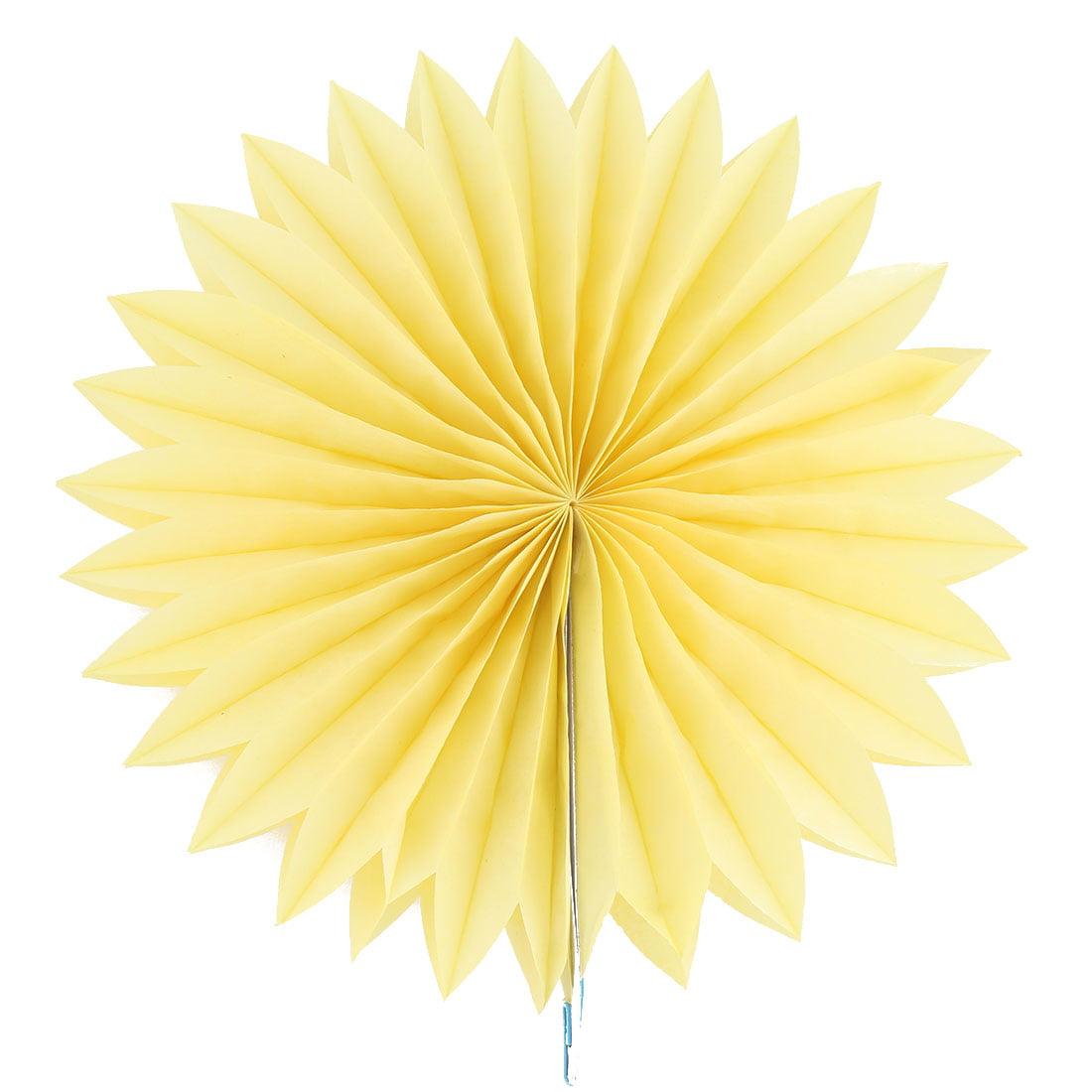 Unique Bargains Home Decor Tissue Paper Folding Fan Flower