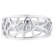 Boston Bay Diamonds Sterling Silver Diamond Accent Labrynth Fashion Ring Size 5
