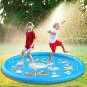 Kids Inflatable Water Splash Sprinkler Play Mat Splash Pool Playing Mat Backyard Water Toy Home Outdoor Lawn Garden Game