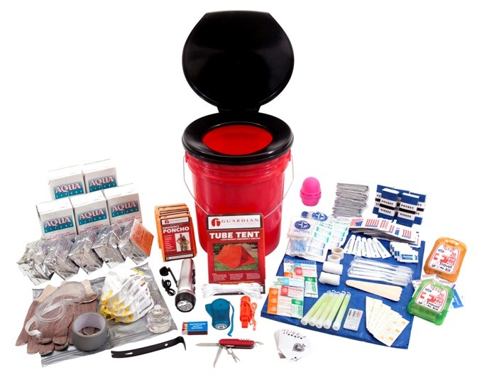 Click here to buy Guardian OKFP Bucket Survival Kit 5 Person by Guardian Survival Gear.