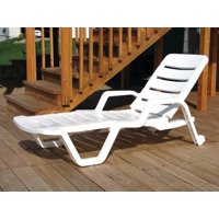 ADAMS MFG CO Resin Chaise Lounger, White 8010-48-3700