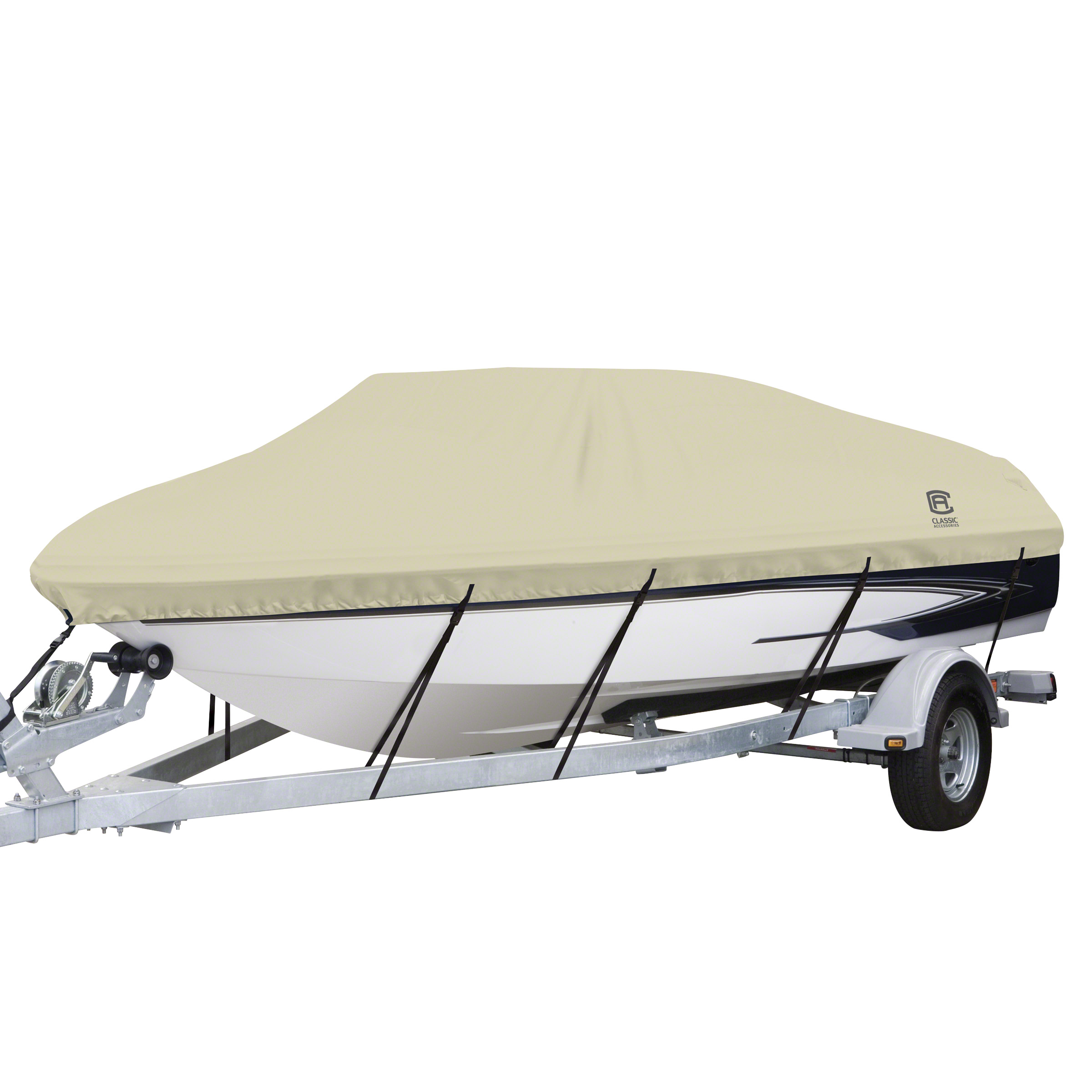 Classic Accessories DryGuard Waterproof Boat Cover, Fits Boats 14' - 24' L