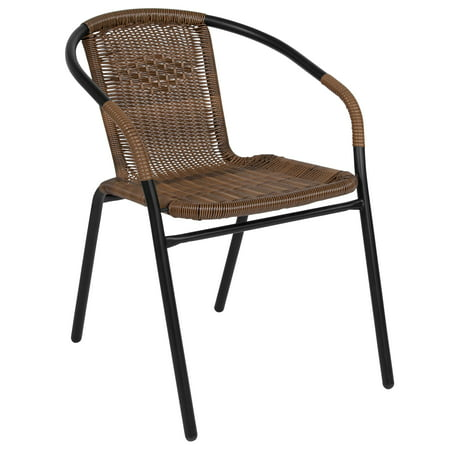 Flash Furniture Rattan Indoor-Outdoor Restaurant Stack Chair, Multiple Colors