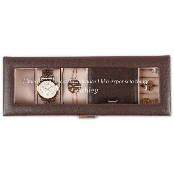 Personalized Watch Case & Jewelry Storage Valet