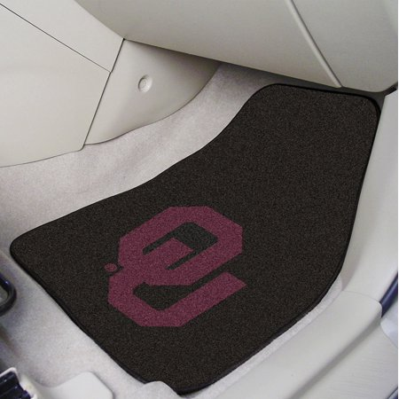 NCAA University of Oklahoma Sooners Nylon Face Carpet Car Mat, Universal size to fit all vehicle types By Fanmats