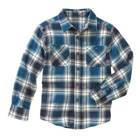Boys Long Sleeve Flannel Shirt