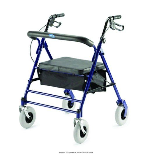 "Invacare Bariatric Rollator with Carry Pouch  27"" W x 29-1/2"" D,1 Count"