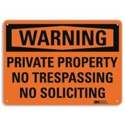 LYLE U6-1206-RA_14X10 Admittance Sign, No Soliciting, 10 in. H