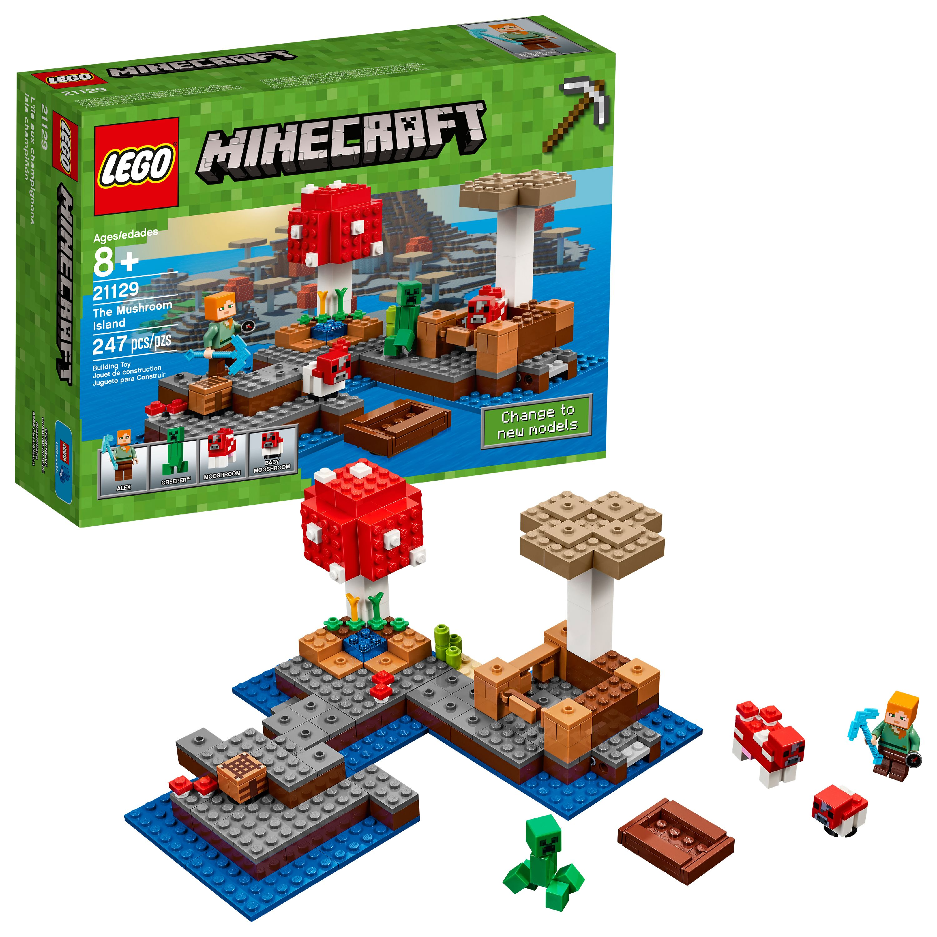 LEGO Minecraft The Mushroom Island 21129 (247 Pieces)