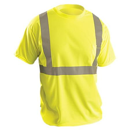 Tshirt Ss Birdseye Silver Tape Pocket Cl2 Yel 3X (T Shirts 3x)