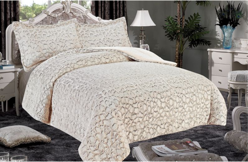 King Queen Noble House Elite Soft /& Plush Sherpa Over-Sized Bed Blanket