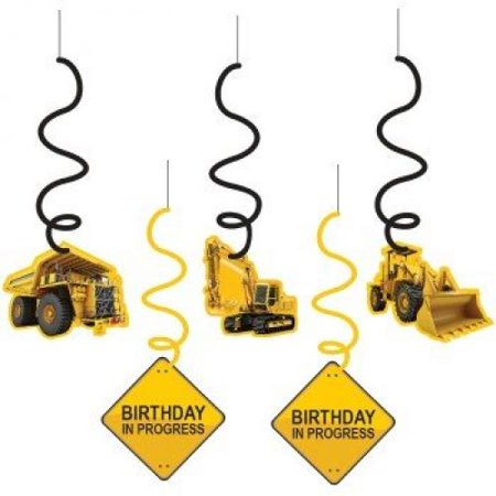 Construction Zone Dangling Cutout Party Decorations (5 ct)